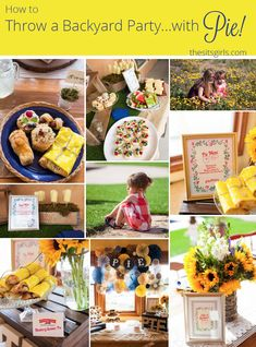 The cutest backyard party decorating ideas! Plus fun games to entertain the kids, and a whole lot of pie. Everything you need to throw the perfect party.