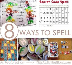 how to spell: 8 activities to help your kids learn. (After school care kids) Spelling Activities, Literacy Activities, Educational Activities, Activities For Kids, Spelling Ideas, Spelling Help, Spelling Games, Spelling Lists, Literacy Centers