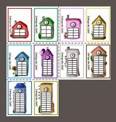 Rechenhäuser in Montessorifarben                                                                                                                                                                                 Mehr