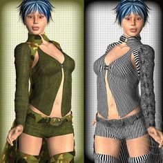 Funk it! For the Domino outfit for V4    Do you want to make your V4 look classy, elegant or funky? Do you want to give her an army outfit with a flare.... This texture pack is for you. $9.32
