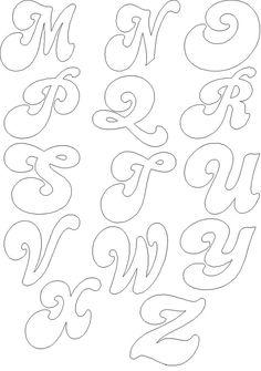 moldes de letras cursivas 3                                                                                                                                                                                 Mais