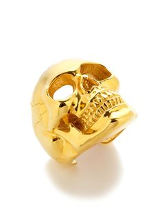 Off The Cuff Gold Skull Bracelet by Tom Binns