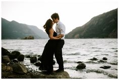 Viento State Park engagement photos in the Columbia River Gorge