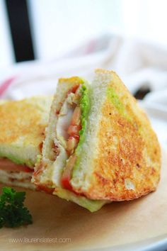 California Club Grilled Cheese Sandwich. Not your typical grilled cheese sandwich. This easy recipe is kicked up a notch!
