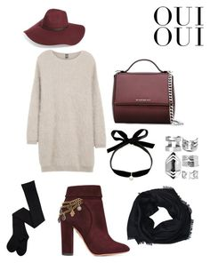 Burgundy Fall by manon-bdm on Polyvore featuring mode, Eleventy, Aquazzura, Givenchy, Mateo, Boohoo, Gucci, Halogen, Oui and burgundy