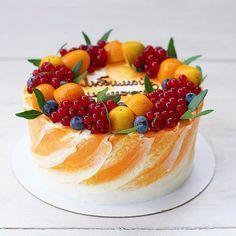 New Birthday Cake Recipe Ideas Treats 66 Ideas Easy Cake Recipes, Dessert Recipes, Healthy Desserts, Cookie Cake Birthday, Birthday Treats, Fruit Birthday, Fresh Fruit Cake, Cupcake Cakes, Fruit Cupcakes