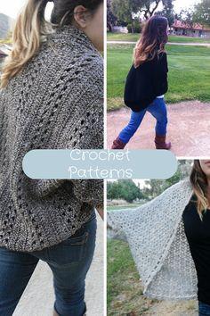 3 Crochet Patterns Discount Sale: Shrug, Cardigan, Sweater, Top, Poncho, Scarf, Wrap, Shawl