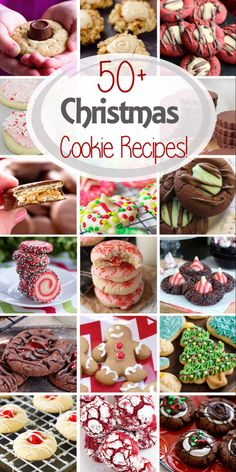 'Tis the season for cookies! I've rounded up over 50 Christmas Cookie recipes to… 'Tis the season for cookies! I've rounded up over 50 Christmas Cookie recipes to use for cookie swaps, holiday parties and gifts! via Julie Evink Easy Christmas Cookie Recipes, Christmas Cookie Exchange, Best Christmas Cookies, Christmas Snacks, Xmas Cookies, Christmas Cooking, Noel Christmas, Holiday Baking, Christmas Desserts