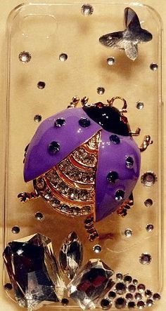 iPhashon 3D PURPLE LADYBUG Clear Case for iPhone 4S & 4 Verizon Sprint AT High Quality Bling Crystals by iPhashon, http://www.amazon.com/dp/B0089XHU9Y/ref=cm_sw_r_pi_dp_0pa1pb0JKXFQ5