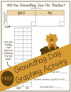 Groundhog\'s Day Plotting Points - Mystery Picture | Día de la ...