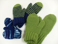 Crochet Mittens for All - follow site to printable instructions http://www.redheart.com/files/patterns/pdf/WR2166_0.pdf