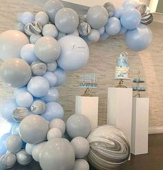 You may be ready to get married in The layout of wedding scenes has to be beautiful and personalized. There are 60 kinds of creative ideas for balloon decoration in wedding scenes. Shower Party, Baby Shower Parties, Baby Shower Themes, Baby Boy Shower, Balloon Arch, Balloon Garland, Balloon Pump, Deco Ballon, Festa Party