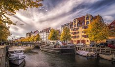Christianshavns Canal - View of the Christianshavn Canal in Copenhagen, Denmark