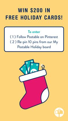 The more you pin, the more chances you have of winning! 2 lucky winners announced October Holiday Ideas, Holiday Cards, Christmas Cards, Free Cards, Card Ideas, Gift Ideas, Winter Decorations, Happy Mail, Inspiration Boards