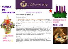ORACIÓN. Diciembre 8º, DOMINGO 2014.  3RA SEMANA DE ADVIENTO ҉҉LOURDES MARÍA BARRETO҉҉