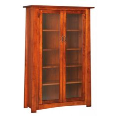 Craftsmen Bookcase with Glass Doors   Peaceful Valley Furniture