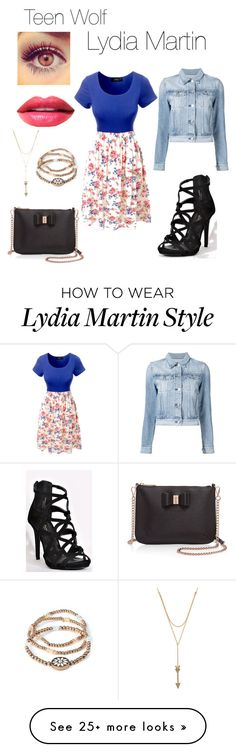 """Teen Wolf:Lydia Martin inspo"" by jaimie-janel on Polyvore featuring LE3NO, 3x1, Ted Baker and Rebecca Minkoff"