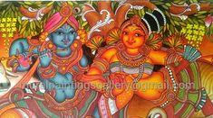 Art Gallery in Guruvayur Kerala Mural Painting, Mural Art, Murals, Indian Paintings, Drawing S, Pencil Drawings, Art Gallery, Wall Decor, Traditional