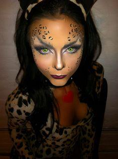 Leopard makeup for Halloween