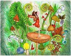 Book Illustration, Illustrations, Gnomes, Make Me Smile, Childrens Books, Fairy, Mermaids, Painting, Facebook