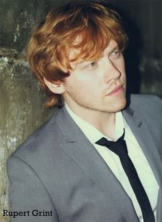 Rupert Grint. I'm in love with a ginger. :P