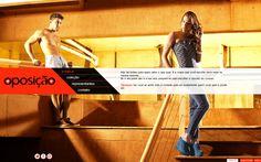 Desenvolvimento do site da Coleção Verão 2012 da Oposição Jeans, marca do Grupo Latreille.