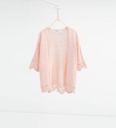 ZARA - SALE - Crochet knit cardigan
