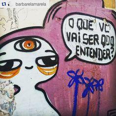 #Repost @barbarelamarela ・・・ Brasília, DF. #brasilia #arteurbana #gurulino #olheosmuros http://ift.tt/1J3YFyt