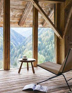 Une superbe vue sur les montagnes - Confort chic pour chalet à Megève - CôtéMaison.fr