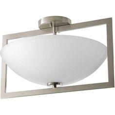 Progress Lighting Harmony Collection 3-Light Brushed Nickel Semi-Flush Mount Light-P3558-09 - The Home Depot