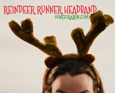 This reindeer headband will help you fly like a reindeer in your holiday run or race.