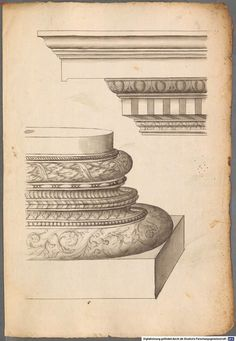 French and Italian architectural drawings and engravings of classical order of columns - 1570 English Country Decor, Carving Designs, Architecture Drawings, Corinthian, Architectural Elements, Interior And Exterior, Vintage World Maps, History, Columns