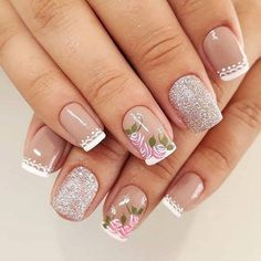 2019 Beautiful Nail Trends and Designs to Try Short Nail Bed, Short Nails, Best Nail Art Designs, Beautiful Nail Designs, Easy Nail Art, Cool Nail Art, Dream Nails, Us Nails, Nail Trends