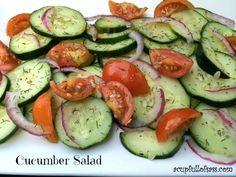 Cucumber Salad recipe. This stuff is amazing!