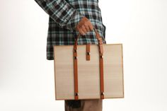 Wooden Carrying Bags from DonguriCo