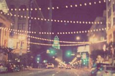 night photography, Sparkle, downtown Los Angeles dreamy bokeh streetscape, romantic twinkle sparkle lights, city hall. $35.00, via Etsy.