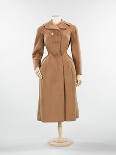 Coat Charles James  Designer: Textile by Forstmann (American, founded 1904) Date: 1952 Culture: American Medium: wool Accession Number: 2009.300.378