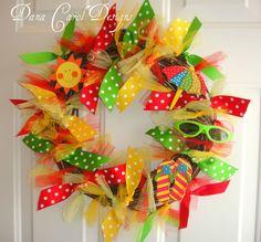 Summer Fun Wreath by DanaCarolDesigns on Etsy. $48.00, via Etsy.