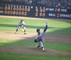 """this-day-in-baseball: """" October 1963 In the Game 1 of the World Series' Sandy Koufax strikes out his batter of the game when he fans pinch hitter Harry Bright for the final out of LA's victory over the Yankees. Koufax, who struck out the. Dodgers Baseball, Baseball Pants, Sports Baseball, Baseball Field, Baseball Movies, Baseball Scoreboard, Baseball Wall, Baseball Guys, Pirates Baseball"""