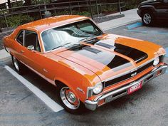 The Orange JL Nova I posted earlier is a replica of this car right here, which was featured on Chevy High Performance: General Motors, Buick, Cadillac, Chevy Girl, Chevy Muscle Cars, Chevy Nova, Chevy Chevelle Ss, Hot Rides, Sweet Cars