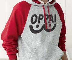 One Punch Man parody Cosplay OPPAI Anime Manga breast humor Hoodie Hooded Sweatshirt