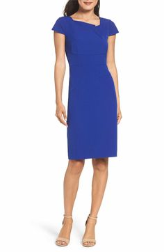 Main Image - Adrianna Papell Origami Sheath Dress (Regular & Petite)