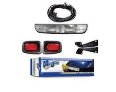 Light Bar Kit with Upgradable Harness. Will fit EZGO TXT Golf Carts. Kit includes headlight bar, LED tail lights, upgradable wiring harness, and push/pull switch. Electric Golf Cart, Gas And Electric, Golf Cart Parts, Golf Carts, Golf Basics, Golf Cart Accessories, Bar Led, Golf Tips For Beginners, Led Tail Lights