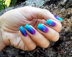 Gradient Nail – Verde ao Roxo - 40 Examples of Elegant Nail Art  <3 <3