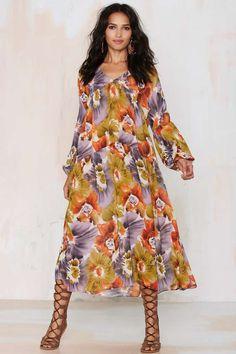 After Party Vintage Kassidy Sheer Dress - Floral