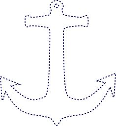 anchor outline image | Stiched Anchor clip art                                                                                                                                                                                 More