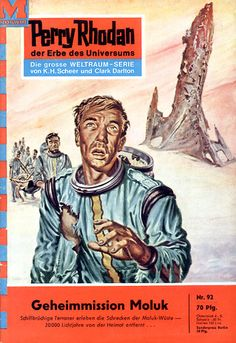 "Perry Rhodan - No. 92: Secret Mission: Moluk - by William Voltz: Cover artwork by ""Johnny"" Bruck: US issue #84"