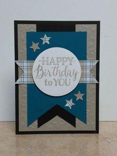 Masculine Birthday Card-Blue