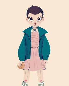 Watched the entire season of Stranger Things in 2 days. Such a binge worthy show! Had to draw Eleven.