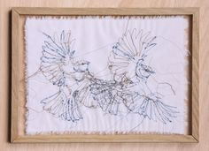 Textile Artwork Birds #dutchdesign #studiodewinkel